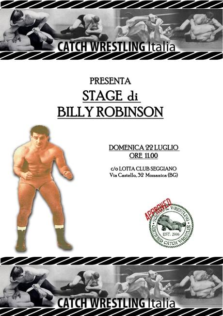 22 Luglio - Billy Robinson la Leggenda in stage a Bergamo 2