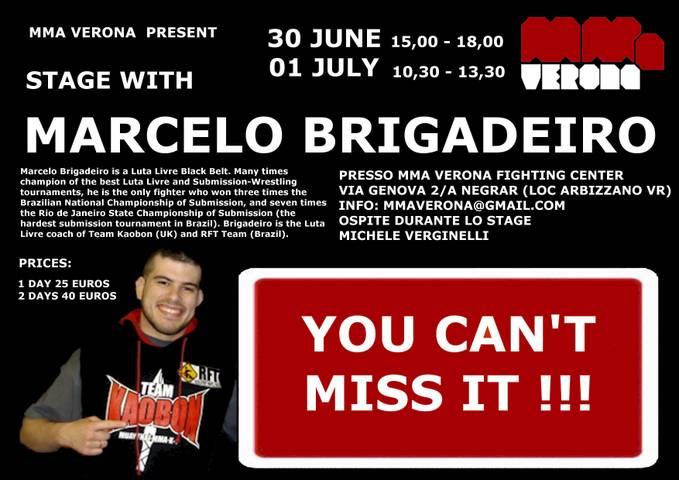 30 giugno / 1 Luglio - Marcello Brigadeiro a Verona 1