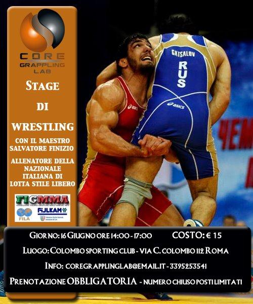 Stage di Olympic Wrestling finalizzato alle dinamiche competitive del Grappling - Sabato 16 giugno  1