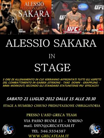 Alessio Sakara in stage a Torino 1