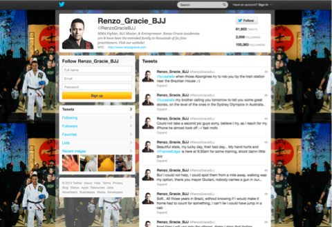 Lol Tweet of the day: Rapina a Renzo Gracie...maestro di BJJ 1