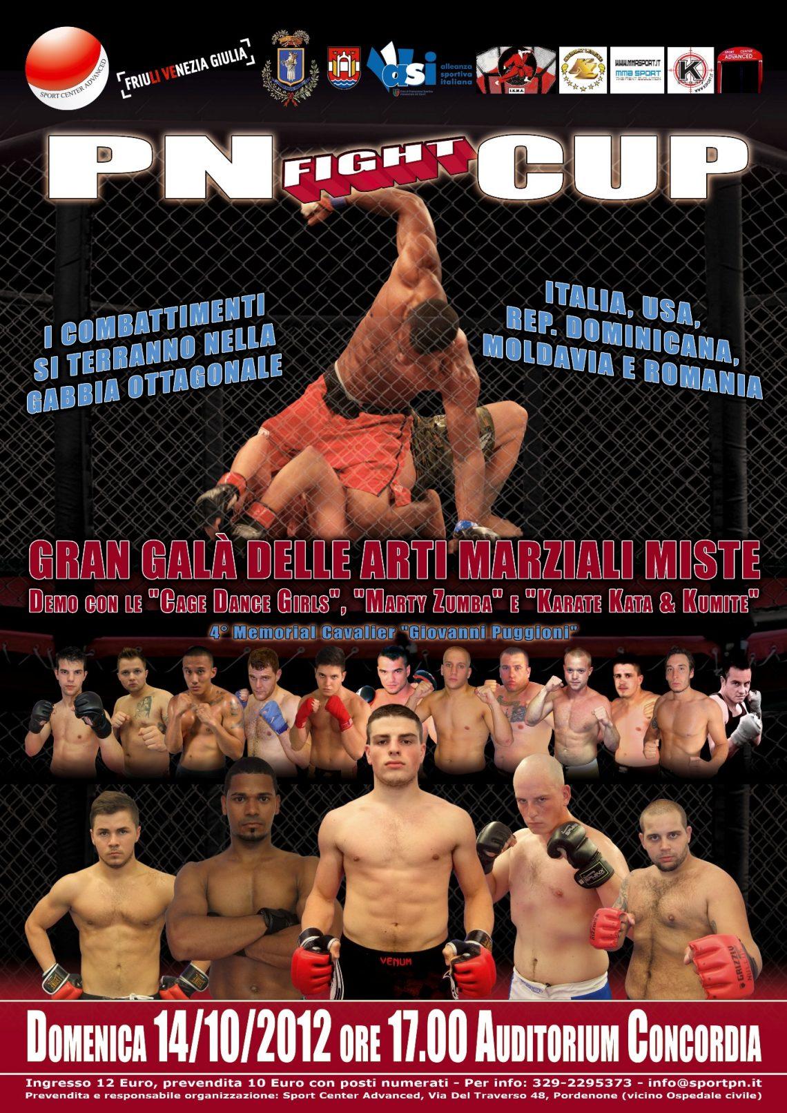 Pordenone SuperSfida MMA Italia-USA: PN Fight Cup 1