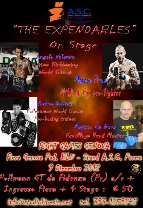 The Expandebles: Seminario di MMA+Pugiliato+kick+CrossTraining a Genova Fight Games