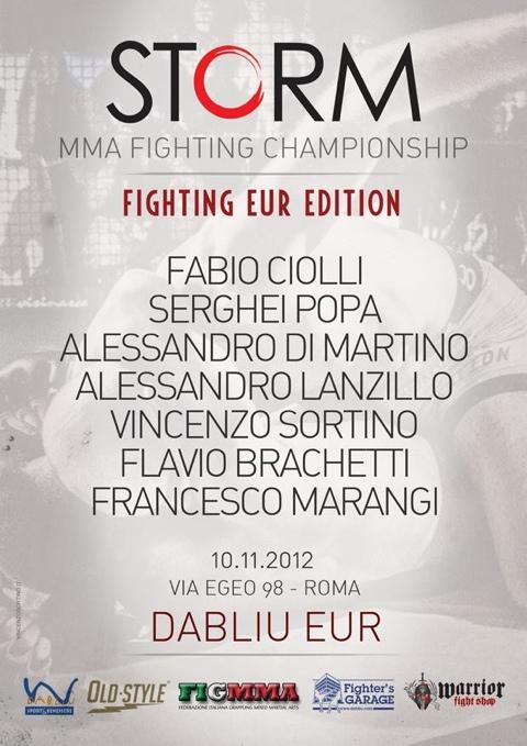 Storm FC - MMA a Roma - 10 Novembre