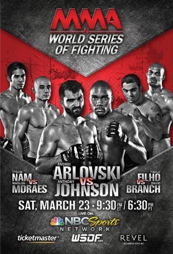 Risultati World Series of Fighting 2: Arlovski vs. Johnson (23.3.2013) 1