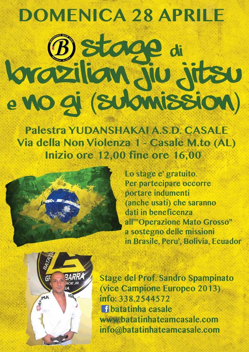 Domenica 28 aprile stage gratuito di brazilian jiu jitsu e no gi del maestro Sandro Spampinato a Casale Monferrato (AL) 1