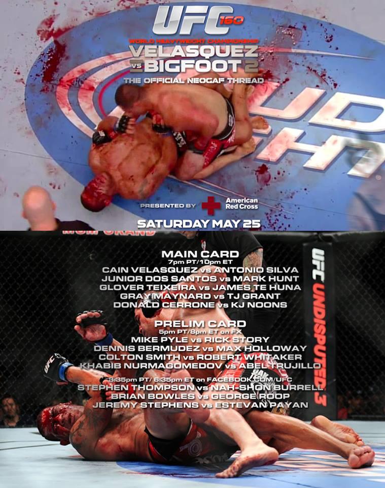 FantaMMA season 3 day 19 - UFC 160: Velasquez vs Silva II 1
