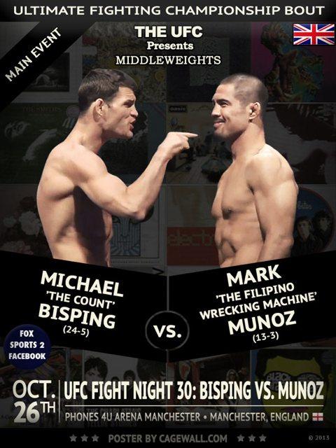 UFC Fight Night 30: Bisping vs. Munoz & Alessio Sakara vs Tom Watson