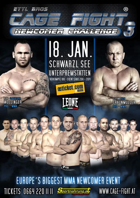 Luca Puggioni e Raffaele Picchietti al Cage Fight Series a Graz il 18 Gennaio 1