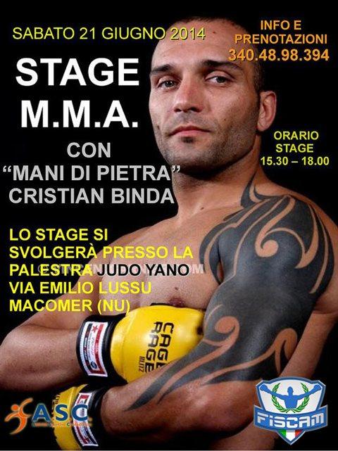 Seminario di MMA Cristian Binda in Sardegna 1