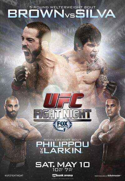 UFC-Fight-Night-40-Brown-vs-Silva-Fight-Poster