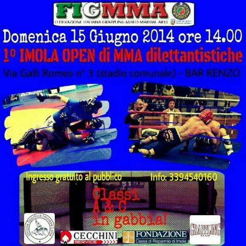 Risultati 1° Imola Open FIGMMA di MMA dilettantistiche. 1