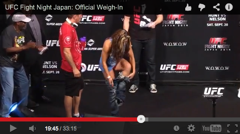 Weight-in UFC Japan-Nelson vs Hunt