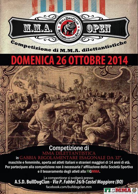 Risultati del 1° Bologna Open di MMA. 1