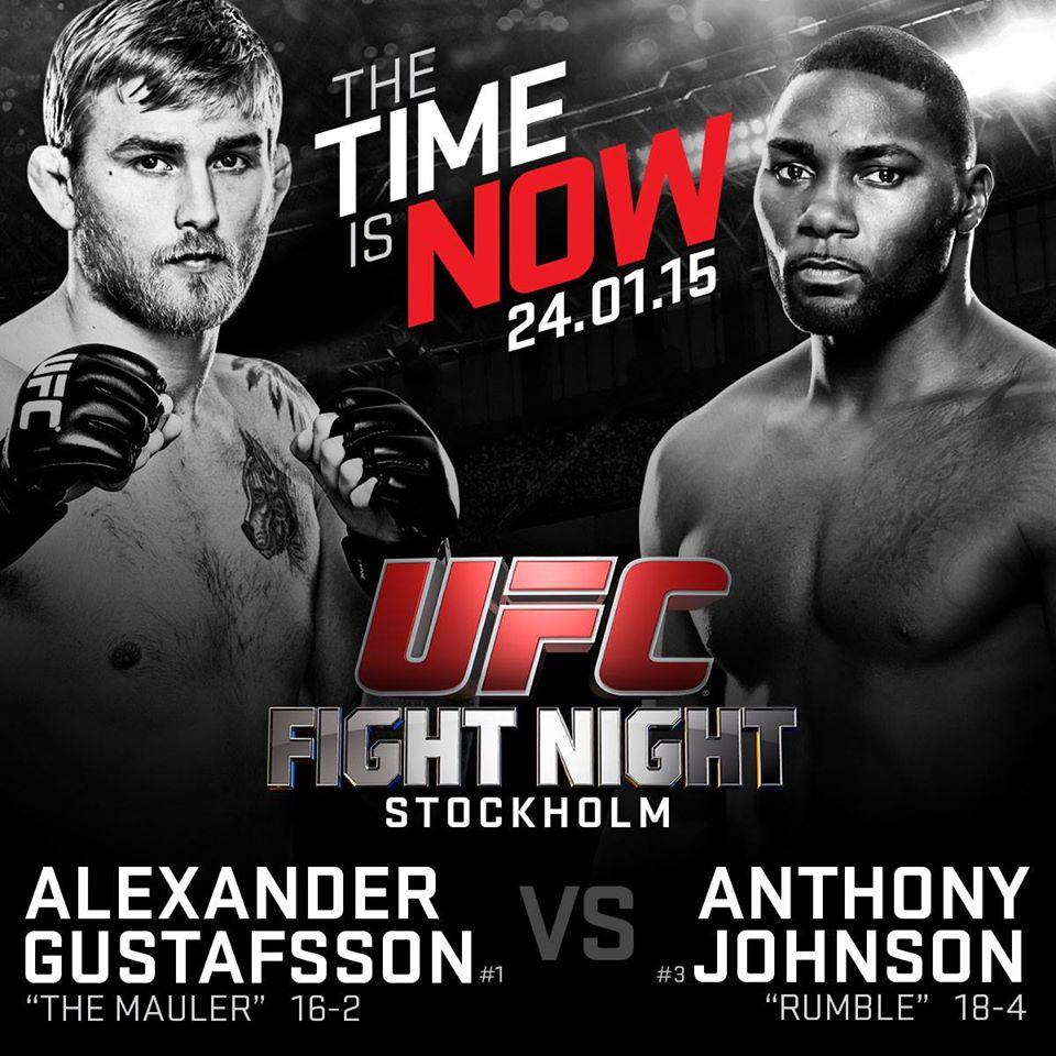 UFC Svezia 2014 Gustafsson vs Johnson