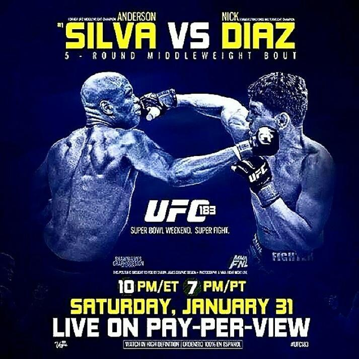 UFC183-SIlva vs DIaz - risultati
