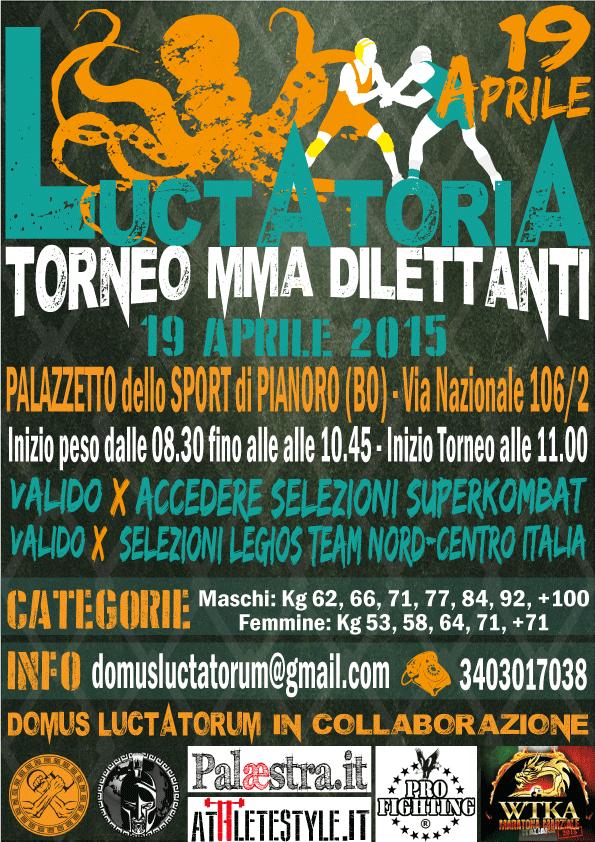 "Torneo MMA dilettanti ""Luctatoria"" 1"