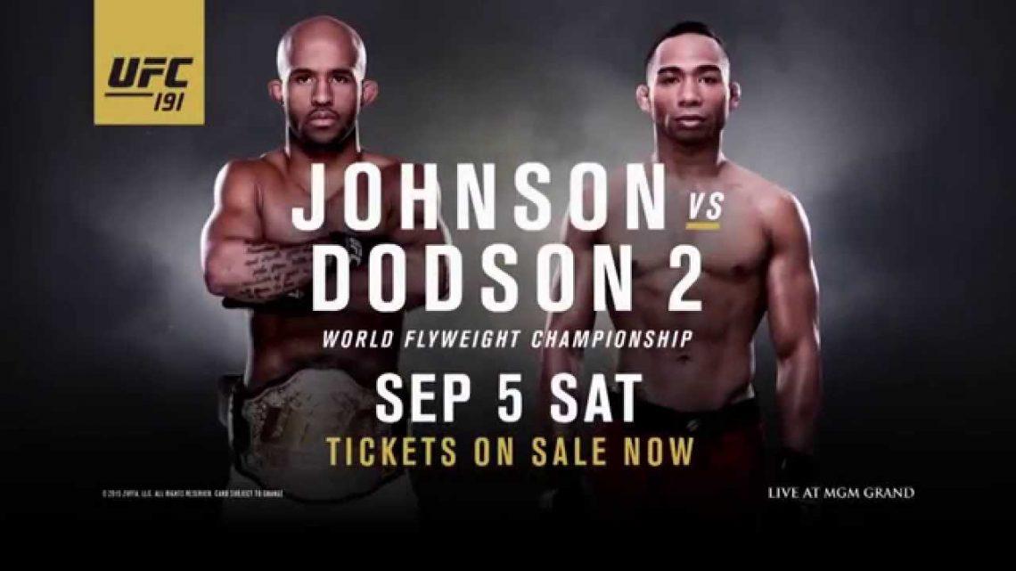poster UFC191- risultati