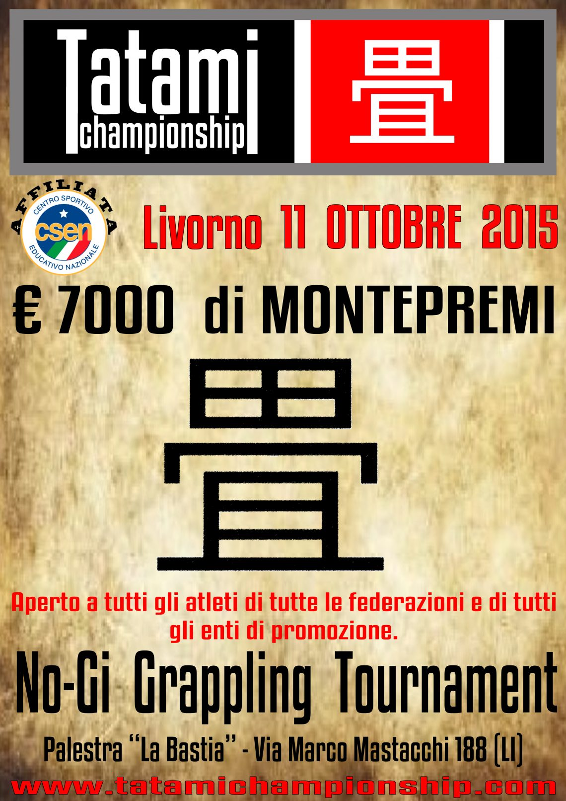 Tatami Championship (No Gi a Livorno) 1