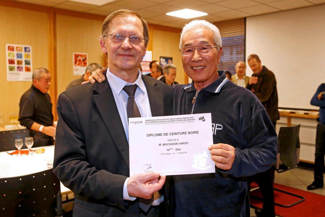 Hiroo Mochizuki primo 10° DAN della FRANCIA 1