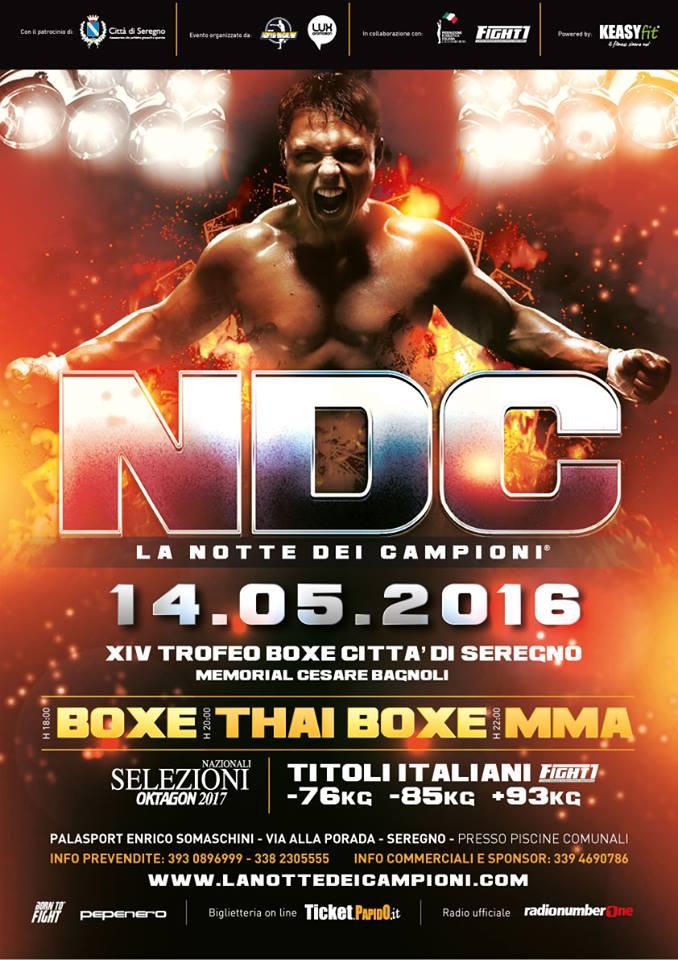 NDC XIV - La Notte dei Campioni 2016 a Seregno: Full Card 1