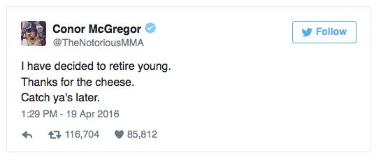 McGregor si ritira1