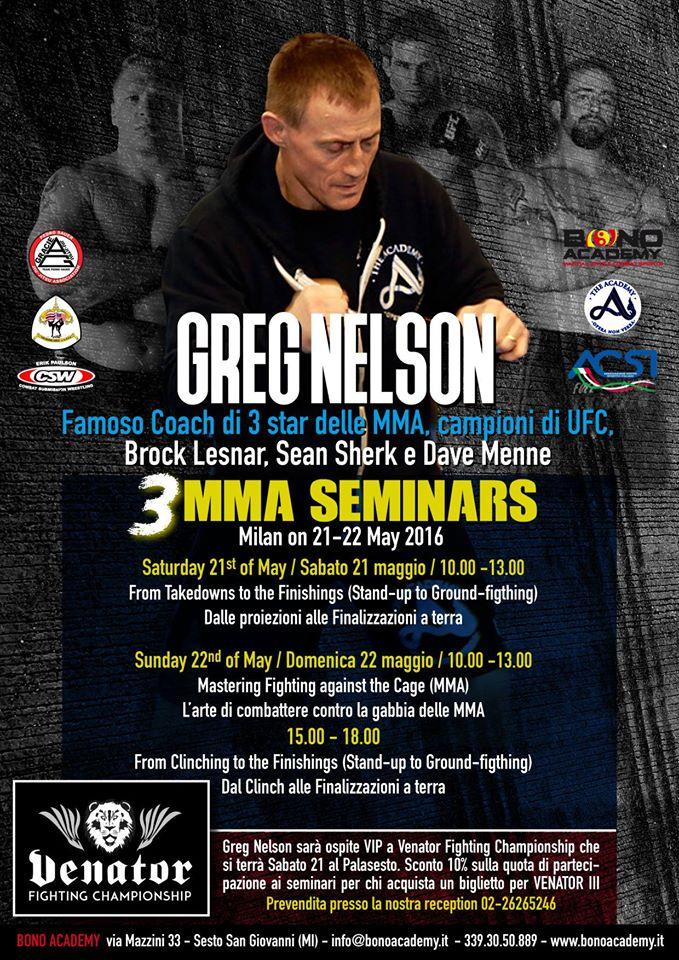 Venator + Greg Nelson Seminar = MMA Weekend 1