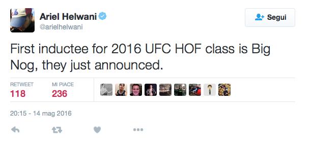 UFC hall of fame