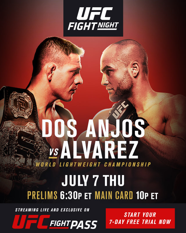 Risultati UFC Fight Night: dos Anjos vs. Alvarez 1