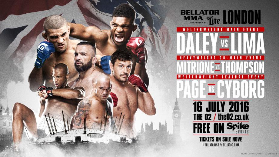 Risultati Bellator Londra Daley vs. Lima (Bellator 158) - aggiornamento 1