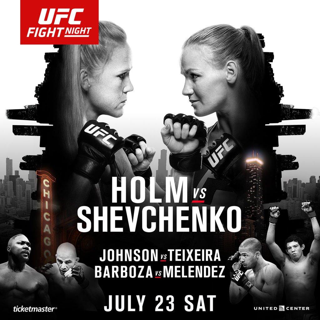 Risultati UFC on Fox: Holm vs Shevchenko 1