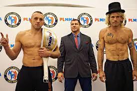 PLMMA 70: risultati dopo la cerimonia del peso.Horwich dentro al limite di 84 kg. 1
