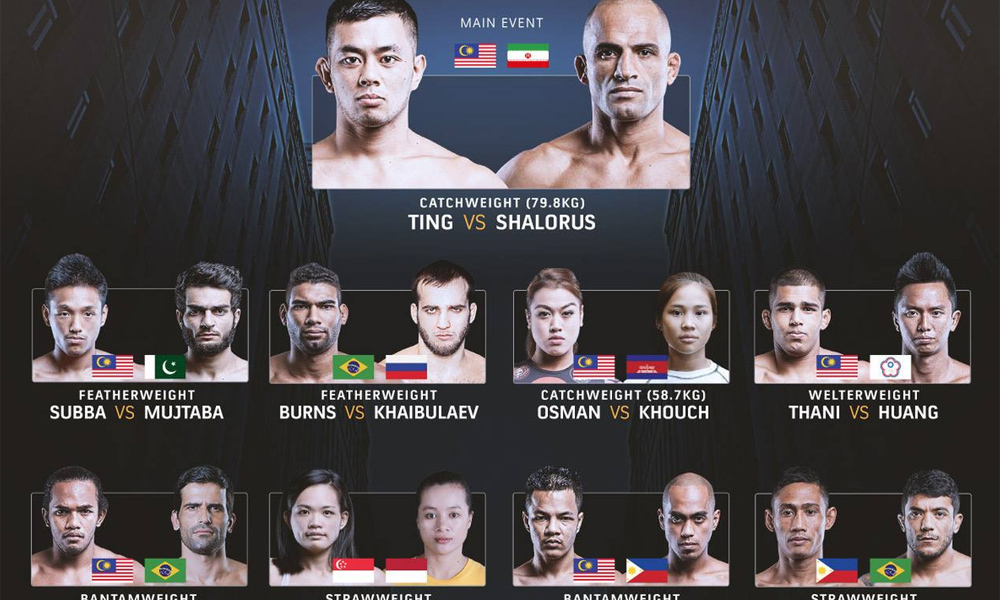 Risultati One Championship 52: Throne of Tigers 1