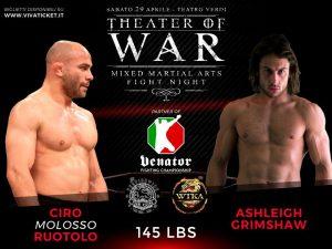 """""""Theater of War"""": risultati alla cerimonia del peso 3"""