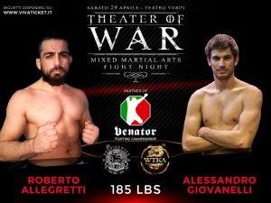 """""""Theater of War"""": risultati alla cerimonia del peso 6"""