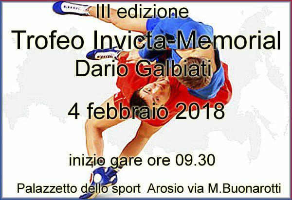 III Trofeo Invicta - Memorial Davide Galbiati di Sambo (Milano) 1