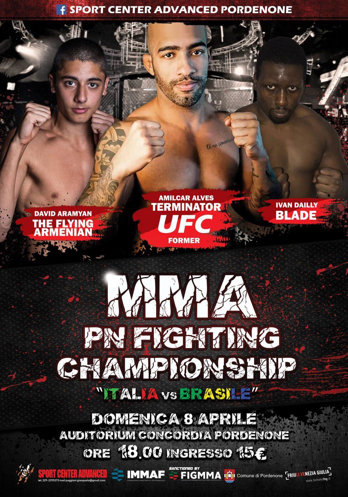 """Amilcar """"Terminaror"""" Alves, UFC Former, sarà il protagonista della PnFC10 Italia vs Brasile 1"""