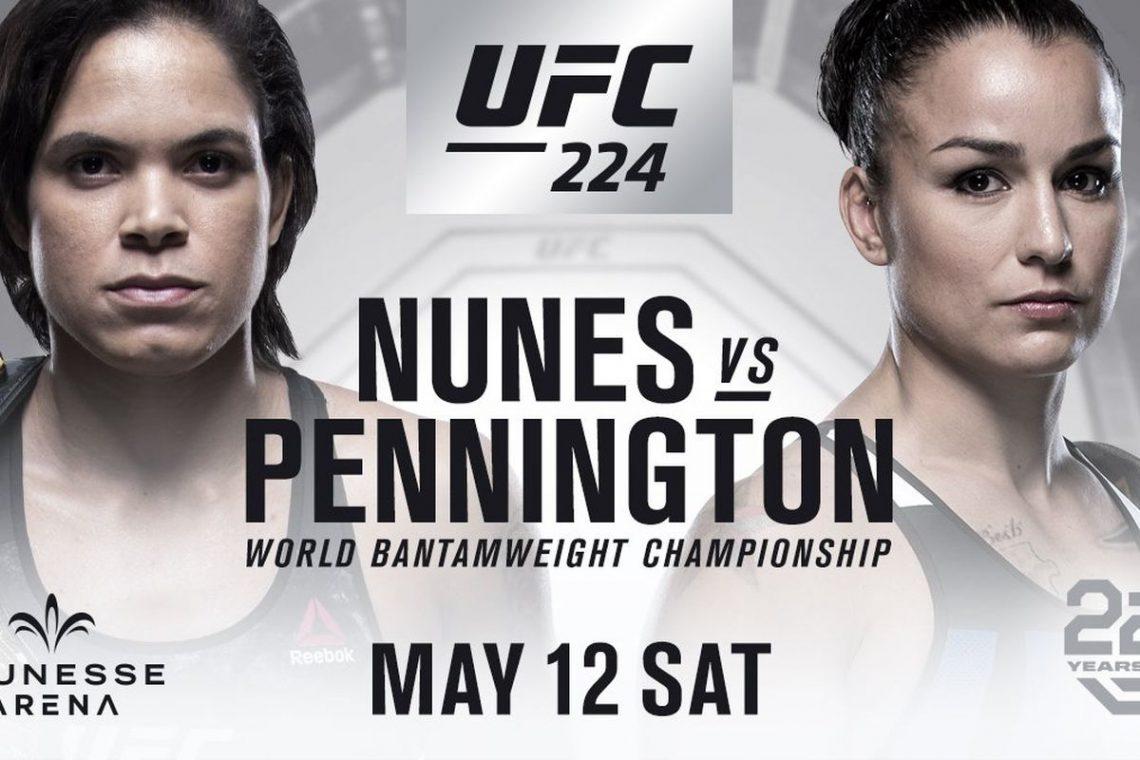 RISULTATI UFC 224 - NUNES VS PENNINGTON 1