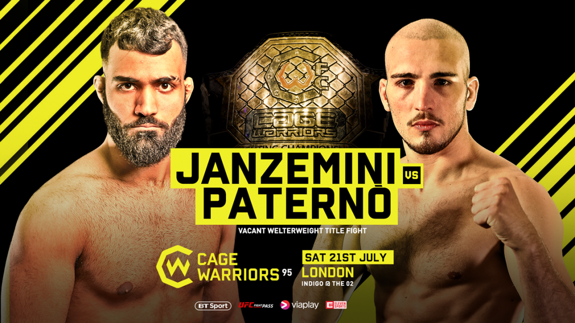 Stefano Paternò per il titolo dei pesi welter Cage Warrior 1
