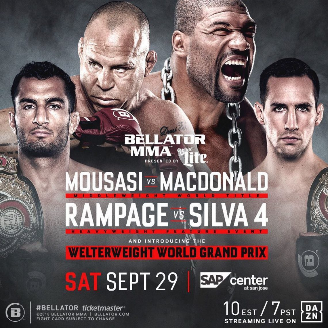 Risultati Bellator 206: McDonald vs Mousasi 1