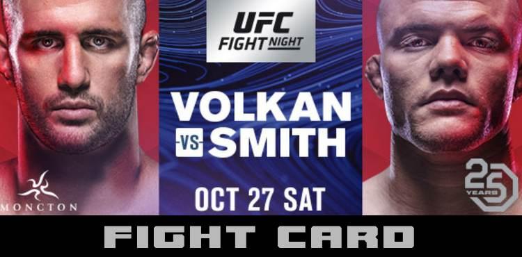 UFC FIGHT NIGHT: VOLKAN VS SMITH 5