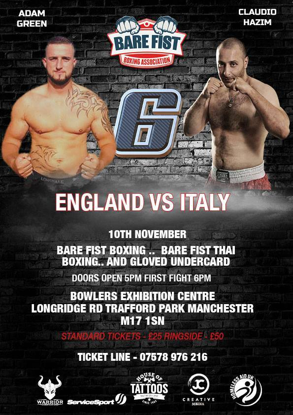 Claudio Hazin alla conquista della Bare Knuckle Boxing inglese (intervista) 3