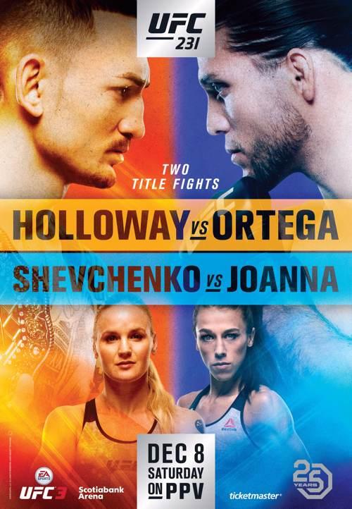 RISULTATI UFC 231: HOLLOWAY VS ORTEGA 1