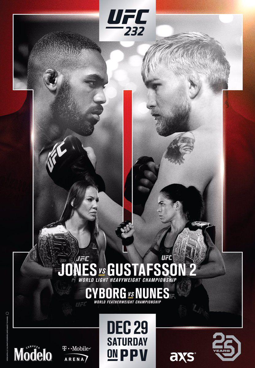 Risultati UFC 232: Jones vs. Gustafsson 2 1