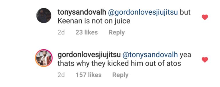 Keenan fuori dall'Atos, Ryan Gordon trolla un po'. 1