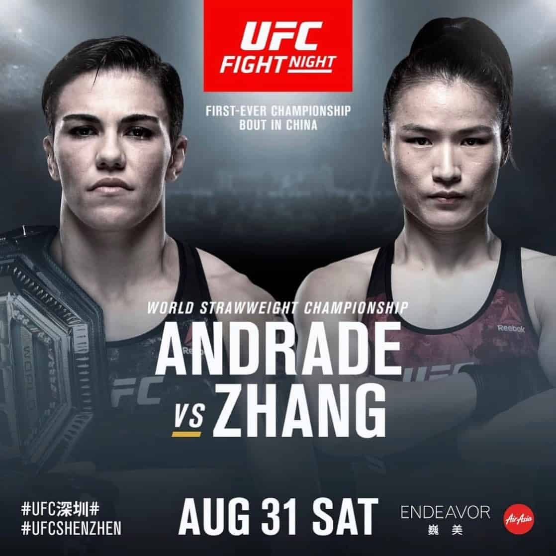 UFC China 2019: Andrade vs. Zhang 1