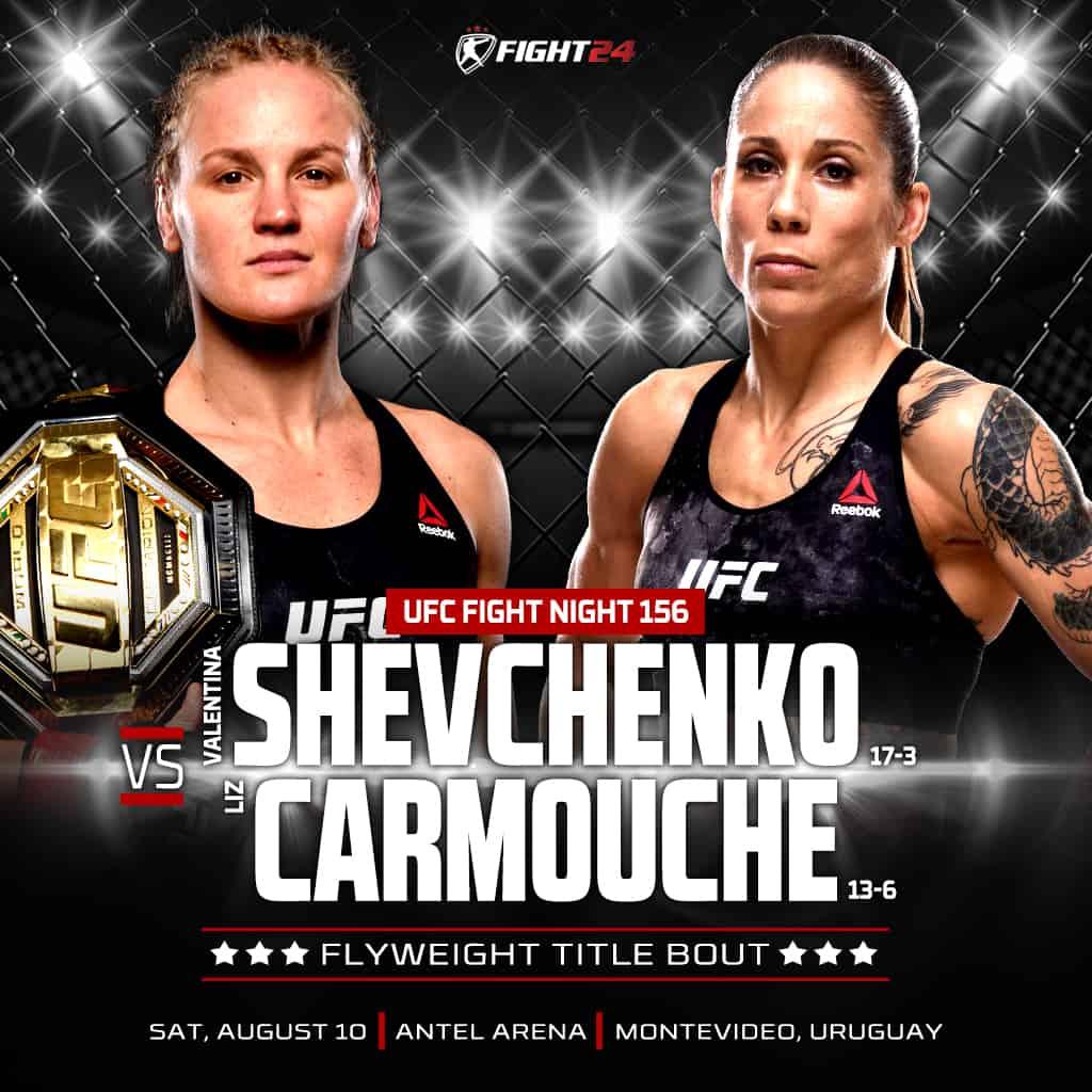 Risultato UFC Fight Night: Shevchenko vs. Carmouche 2 (Uruguay 2019) 1