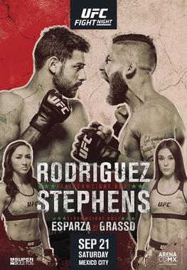Risultati UFC Mexico City 2019: Rodríguez vs. Stephens 1