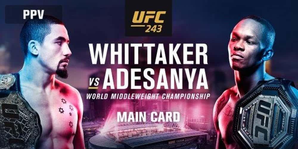 UFC 243: Whittaker vs. Adesanya (UFC Melbourne 2019) 1