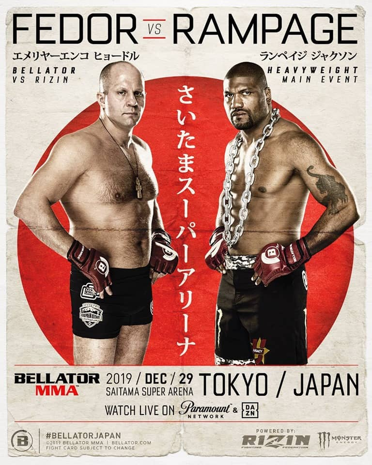 Bellator vs Rizin: Fedor vs Rampage 1